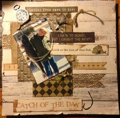 Catch of the day - Scrapbook.com perfect fishing layout