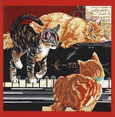 Kittens on Keys Paint by Number - Pbn-023-0405 - Paint by Number - Paint & Pencil - by Janlynn -