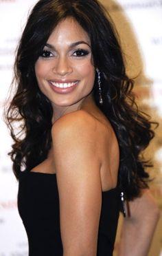 Gorgeous dark hair! Rosario Dawson