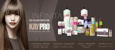 { KayPro } Linha Profissional   Professional Hair Care: Champô / Condicionador / Máscara / Tratamento / Reparador / Selante / Sérum / Spray. A melhor relação qualidade::preço para os cuidados diários que o seu cabelo necessita. Resultados: cabelo saudável, solto e brilhante. { Kaypro}  Professional Hair Care: Shampoo / Conditioner / Mask / Treatment / Repairer / Sealant / Serum / Spray. The best relation quality::price for the daily care that your hair needs. www.INFINITA.pt