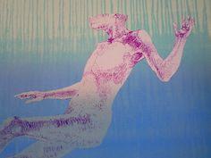 Leonardo Cremonini détail des Nageurs (sous l'eau)