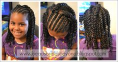Flat twist int two strand twist. Natural hair style