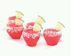 Strawberry margarita jello shots...perfect for Cinco de Mayo Easter this year!!!!!!