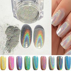 <3 Get mermaid nail art done super easy with this powder! Click to shop.