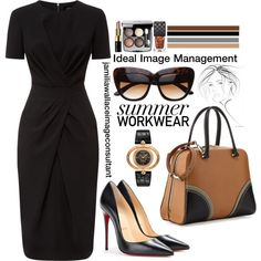 Ideal Image by jamilia-wallace on Polyvore featuring polyvore fashion style Jaeger Christian Louboutin Prada Versace Bobbi Brown Cosmetics Gucci Chanel