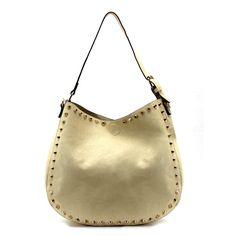 Almond Beige Ava Shoulder Bag