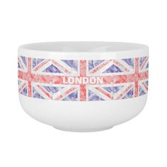 Union Jack #Flag Design #Soup #Mug