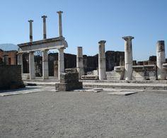 Columns of the forum Pompeii