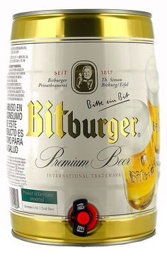 Bitburger Pils 5 Litre Can