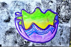 Chihuly-inspired 3d form