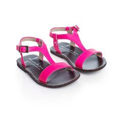 MANUELA DE JUAN Neon spartan sandal in leather