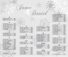 Winter Wedding Seating Chart by invitingfriendz on Etsy, $40.00