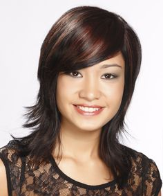 Medium Straight Casual Hairstyle 2014