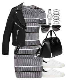"""""""Sem título #955"""" by oh-its-anna ❤ liked on Polyvore featuring T By Alexander Wang, Givenchy, Yves Saint Laurent, adidas, M.N.G and Calvin Klein"""