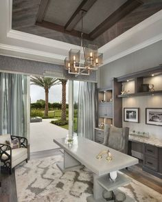 vallone design elegant office. Contemporary Office Vallone Design Classic But Modern Home Office With White Vaulted Ceilings  And Latte Colored Walls Match   Feminine Home Office Pinterest Color Throughout Design Elegant