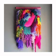 Woven wall hanging Handwoven Tapestry Weaving Fiber par jujujust