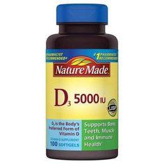 Nature Made Biotin 5000 Mcg Dietary Supplement Liquid Softgels - 50 Ea Vitamin D 2000 Iu, Vitamin B12, Biotin, Nature Made Vitamins, Vitamin D Supplement, Muscle Function, Teeth Health, Strength, Count