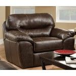 Jackson Furniture - Brantley Bonded Leather Chair and Half in Steel - 4430-01-STEEL