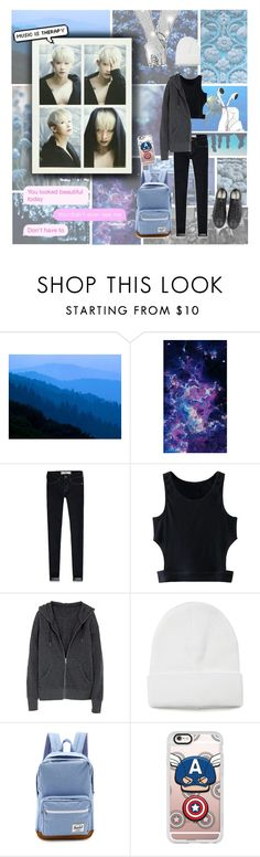 """""""MONSTA X Wonho"""" by banana-lee ❤ liked on Polyvore featuring Seed Design, Abercrombie & Fitch, WithChic, Herschel Supply Co., Casetify and Converse"""