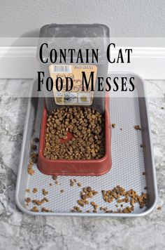 Have some furry creatures in your home? Check out this life hack to contain the pet food messes that come with these lovely pets.