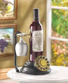 Rotary Dial Telephone + Wine = Coolness!