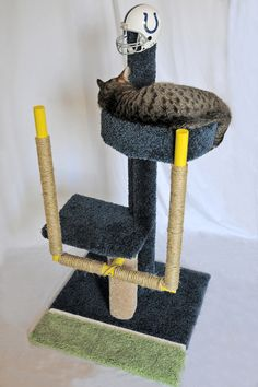 Square Paws NFL cat tower