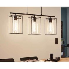Eglo Lampen-Aufhebung Loncino 3 Lichter 60W H 110 cm
