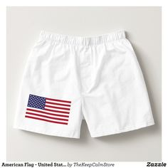 American Flag - United States of America Boxers - Dashing Cotton Underwear And Sleepwear By Talented Fashion And Graphic Designers - #underwear #boxershorts #boxers #mensfashion #apparel #shopping #bargain #sale #outfit #stylish #cool #graphicdesign #trendy #fashion #design #fashiondesign #designer #fashiondesigner #style