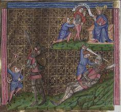 Manuscript WLB Cod.bibl.fol.5 Weltchronik Folio 130v Dating 1383 From Trier, Deutschland Holding Institution Württembergische Landesbibliothek