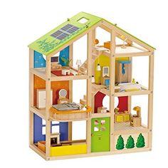 Hape - All Season Doll House - Furnished Playset