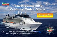 Enter to win a 7-night all-expense paid cruise for you and guest this Nov. 2015! Entry exp. 6/15/15
