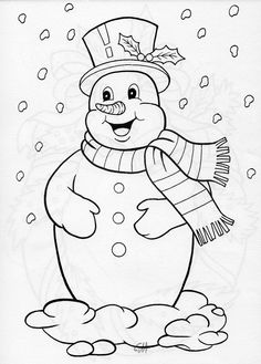 Winter Scenes Coloring Pages - Winter Scenes Coloring Pages, Coloring Pages January Coloring Rocks Winter Hat In Sheets Snowman Coloring Pages, Coloring Pages Winter, Christmas Coloring Pages, Coloring Book Pages, Coloring Pages For Kids, Christmas Colors, Christmas Snowman, Christmas Crafts, Snowman Quilt