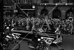 Cavalcade of President John F. Kennedy makes its way through Dublin, cheered on by thousands of spectators. See more photos like this at www. Dublin City, John F Kennedy, History Photos, Photo Archive, Jfk, More Photos, Presidents, Ireland, Irish