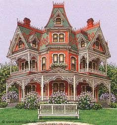 Coolest Victorian House Colors Ideas, Choosing for Your Home or Office Colors are somewhat more neutral and have a tendency to remain at the very same saturation level. Whether you opt to choose historically accurate colo. Victorian Architecture, Beautiful Architecture, Beautiful Buildings, Beautiful Homes, Beautiful Places, Lego Architecture, Architecture Portfolio, Victorian Style Homes, Victorian Decor