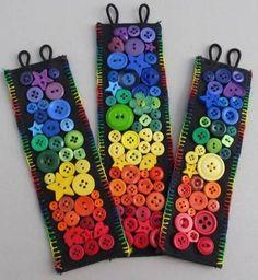 rainbow button cuff bracelets