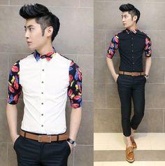 Men 2014 Spring Summer Half-sleeve Fashion Shirts Slim Asian Stylish Men Cool Club Shirts $24.88...