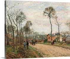 Camille Pissarro Postkutsche von Louveciennes 1870 painting is available for sale; this Camille Pissarro Postkutsche von Louveciennes 1870 art Painting is at a discount of off. Framed Art Prints, Painting Prints, Framed Wall Art, Paul Gauguin, Oil On Canvas, Canvas Art, Canvas Prints, Canvas Size, Big Canvas