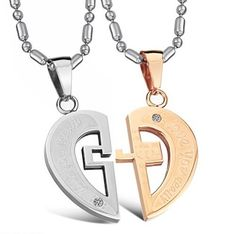 "Stainless Steel ""Love You Really"" Engraved Key Lock Heart Pendant Necklace Set for Couple N070 Eeva' jewelry,http://www.amazon.com/dp/B008GFX5OE/ref=cm_sw_r_pi_dp_zAPnsb078MCVSDY5"