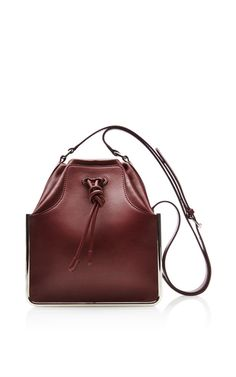 Bordeaux Calf St Sulpice Bucket Bag by Carven for Preorder on Moda Operandi