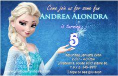 Free Printable Frozen Bday Invitations!!! Super Cute!!