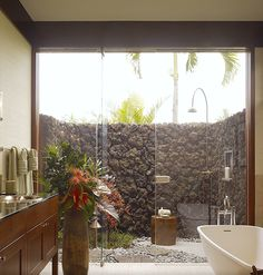 I like this but not the type of stone wall. I want to leave mine open