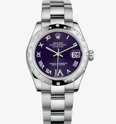 Rolex Datejust Lady 31 Watch: White Rolesor - combination of 904L steel and 18 ct white gold – M178344-0016