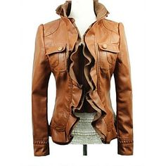 Motorcycle Coat Outerwear Women, Fashion Outfits, Womens Fashion, Street Style Women, Passion For Fashion, Autumn Winter Fashion, What To Wear, My Style, Pu Leather