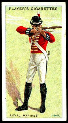 Cigarette Card - Royal Marines, 1805