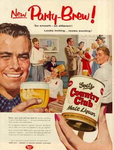 Vintage Beer Poster - Country Club