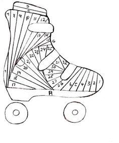 Iris Folding Roller Skate pattern