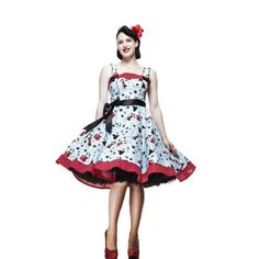 Amazon.com: Hell Bunny Plus Size 50's Pin up Girls and Stars Art Print Dixie Swing Dress - XL: Clothing