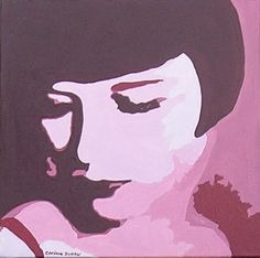 Tableau design portrait Louise Brooks - 45 € Louise Brooks, Tableau Design, Etsy, Vintage, Portrait, Canvases, Handmade Gifts, Portrait Illustration, Vintage Comics