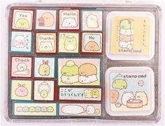 big Sumikkogurashi penguin cutlet bear stamp set 1