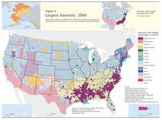 USA, largest ancestry, 2000